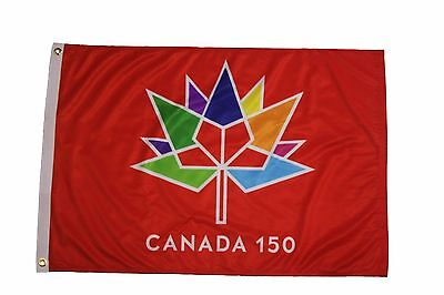 Canada 150 Year Anniversary 1867-2017 Red 2 X 3 Feet Flag Banner