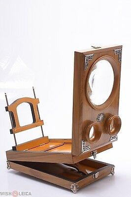 Nice*  France Antique 3D Stereo Viewer, Stereoscope, Graphoscope Table Top