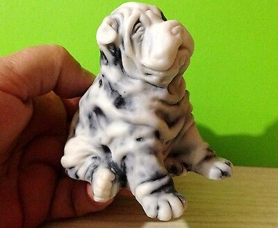 Shar Pei figurine Dog marble chips  realistic Souvenirs from Russia
