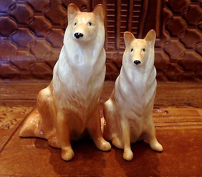 Collie porcelain Dogs figurine Souvenirs  from Russia hand painted