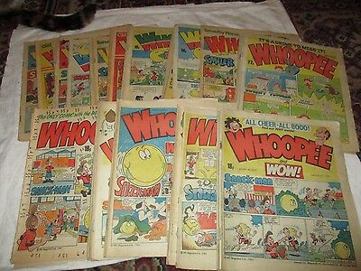 Job Lot Random Issues Of British Comics 33 Issues Whoopee And Wow