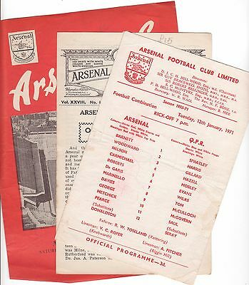 Arsenal Res 1970/71 Season X 2 Different All Individually Priced