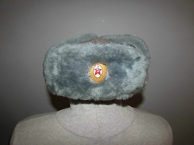 Russian soviet army military officer winter fur hat cap ushanka excellent