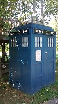 "Doctor Who ""TARDIS"" Police Call Box sign wood hand crafted authentic scale size"