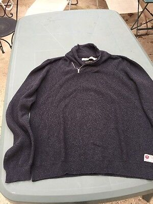 Pull Homme Gris Freeman Porter Taille Xl