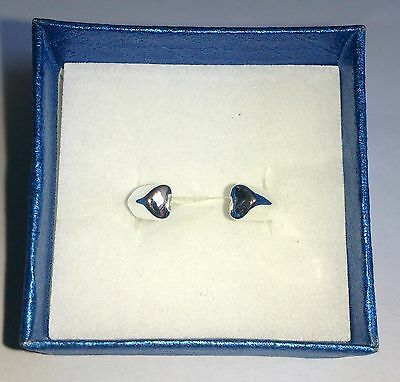 Brand New Pretty SILVER Plated Cuff Style HEART RING Size P 925 stamped