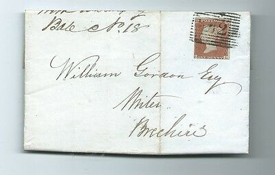 Qv 1D Red Imperf Entire  1848  Brechin