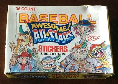 1988 LEAF Baseball Awesome All-Stars Trading Cards Wax Boxes Lot Of 6