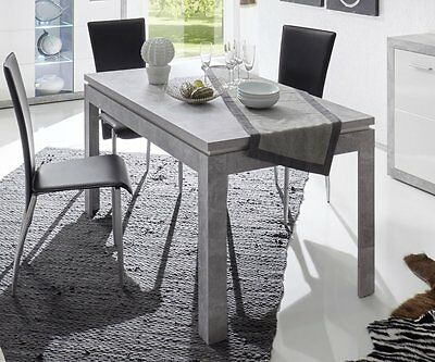 esstisch esszimmertisch k chentisch 200x100 cm mit stahlfu beton neu eur 284 05 picclick de. Black Bedroom Furniture Sets. Home Design Ideas
