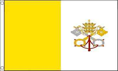 5ft x 3ft (150 x 90cm) Vatican City Pope Italy Polyester Material Banner Flag