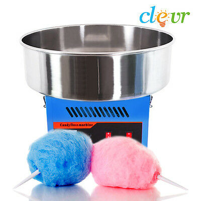 NEW Clevr Commercial Cotton Candy Machine Carnival Party Candy Floss Maker Blue