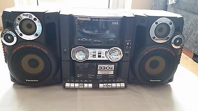 Panasonic RX-CT65 double cassette player stereo detachable speakers boombox £58