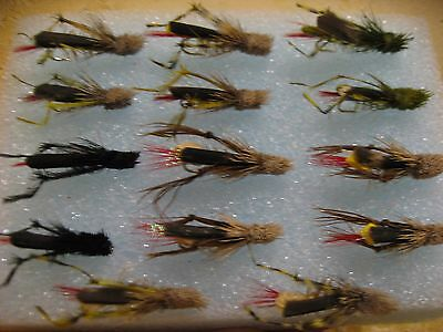 Pesca a mosca. 14 saltamontes para barbo y carpa. FLY FISHING (13)
