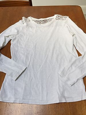 Girls Tammy Girl White Top Size 13-14 Years Excellent Condition