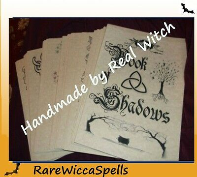 ClearancePriced* SPELL BOOK OF SHADOWS Over 360 Parch Pgs Wicca Pagan Strega