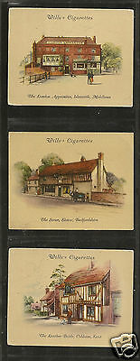 WILLS - Old Inns (2nd Series) 1939 - 3 Cards No's 22/23/32.