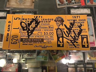 1971 Nlcs Pittsburgh Pirates Game 4 Dave Guisti Richie Hebner Signed Ticket Stub