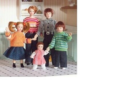 Dolls House Miniature 1:12th Scale Modern Family of Five