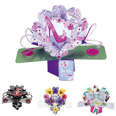 Pop Up 3D Cards Birthday Card Wedding Anniversary New Baby Funny Gift Card