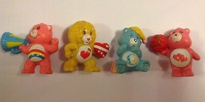 "4 Vintage Care Bears 1983 - 1984 ( 2"" ,  5 cm )"