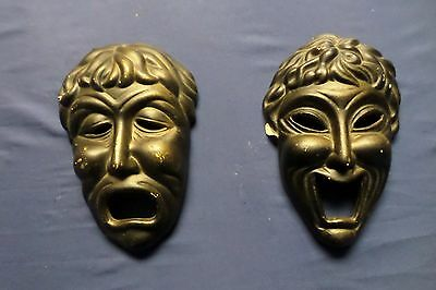 Lot of 2 Vintage ARDCO Hanging Wall Masks made in Taiwan Lot#6-0250