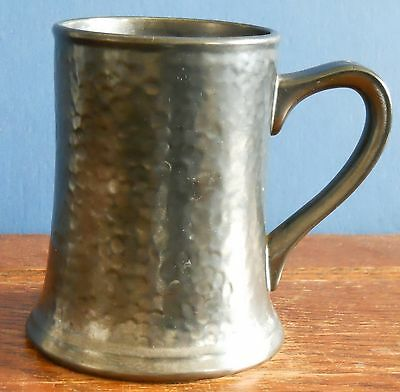 A rare vintage Midwinter pewter effect pottery pint tankard