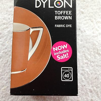 Dylon Fabric Dye now with Salt 350g box Toffee Brown 40