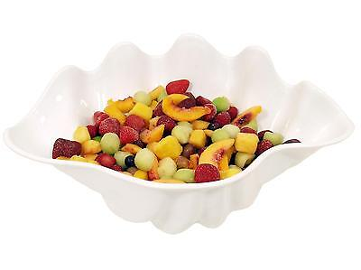 Update SSB-5W White Plastic 5Qt Shell Shaped Salad Bowls