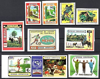 Central African MNH Imperfs.-Nice Topicals  MV