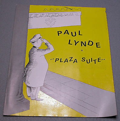 Kenley Players Ohio PAUL LYNDE Theatre Program for PLAZA SUITE July 1971