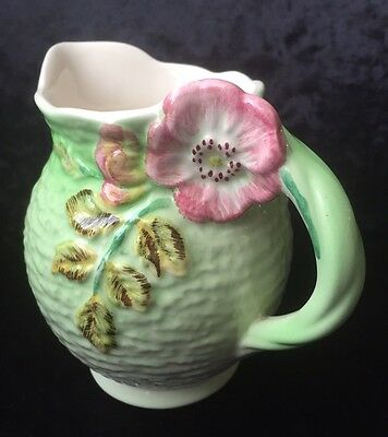 Vintage Shorter Ware Hand Painted Jug With Floral Handle