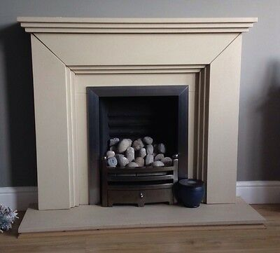 Stone Fireplace Surround And Gas Fire