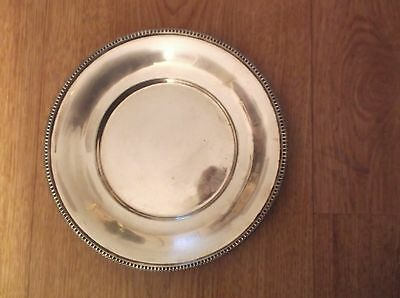 Silver plate 6inches across marking underneath
