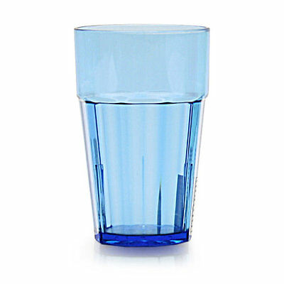 Thunder Group PLPCTB124BL 24 oz. Blue Plastic Diamond Tumbler - Case of 12