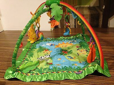 Fisher Price Rainforest Child / Baby Play Gym / Mat With Lights And Toys