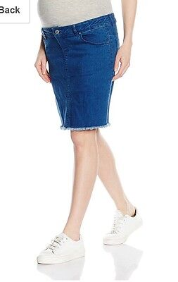 Maternity Denim Skirt Mamalicious ASOS Stretchy Over The Bump • Size 10