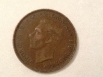 Rare coin, one penny,  George Vl, 1937