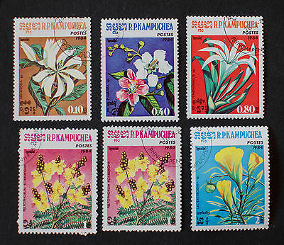 Cambodia / Kampuchea 1984 Flower Stamps