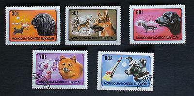 Mongolia 1978 SPACE / Working Dogs Used