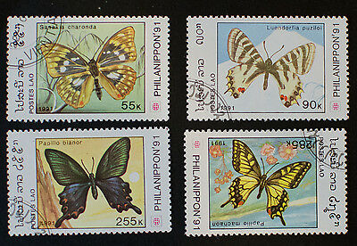 Laos 1991 Butterfly Stamps