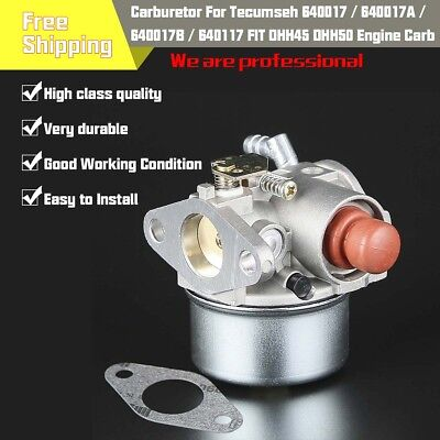 New CARBURETOR Carb for Tecumseh 640017 640017A 640017B 640104 fits OHH45 OHH50