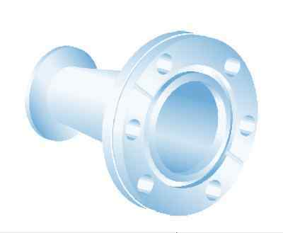CF-2.75 (Conflat) to KF-25 (NW-25) Conical Reducer, SST