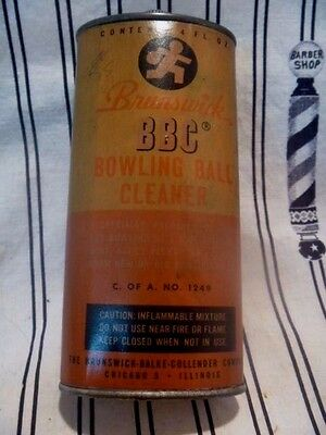 Brunswick Balke & Collender Chicago Bowling Ball Cleaner Tin.full