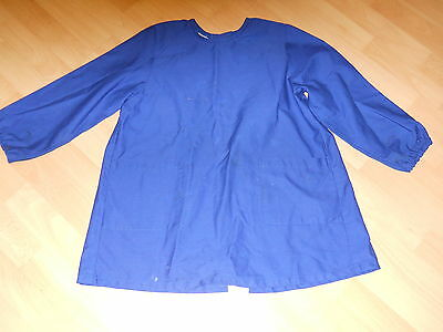 Child's Cotton Blue Long Sleeved Apron Chest 26""