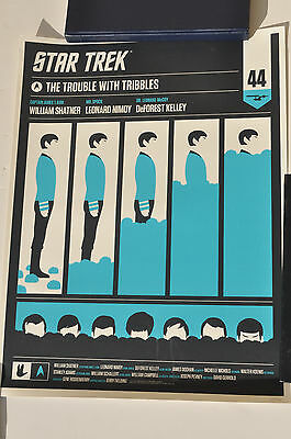 Mondo Star Trek The Trouble with Tribbles Spock Print by Olly Moss #ed 310/350