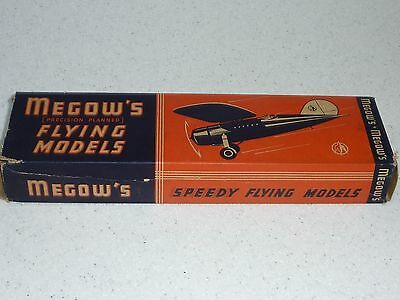 "Megow's Precision Planned F.40 Glider 12"" span balsa flying model collectors kit"