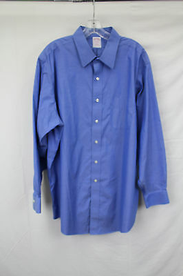 Brooks Brothers Men's Blue Long Sleeve Button Down Shirt Size 17 1/2- 34