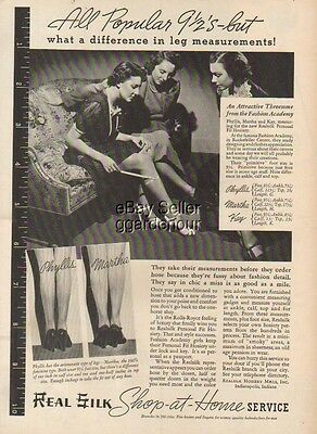 1937 Real Silk Hosiery Mills Indianapolis IN Back Seam Stockings Legs Nylons Ad
