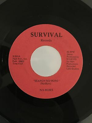 Nar-Bors, Search No More, Very Rare And Unknown Modern / Crossover Soul 45