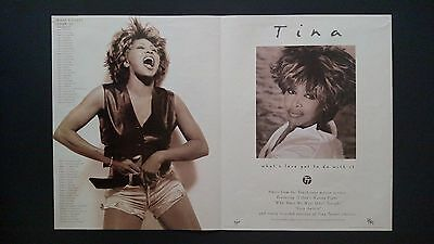 """Tina Turner """"what's Love Got To Do With It, Rare Original Print Promo Poster Ad"""